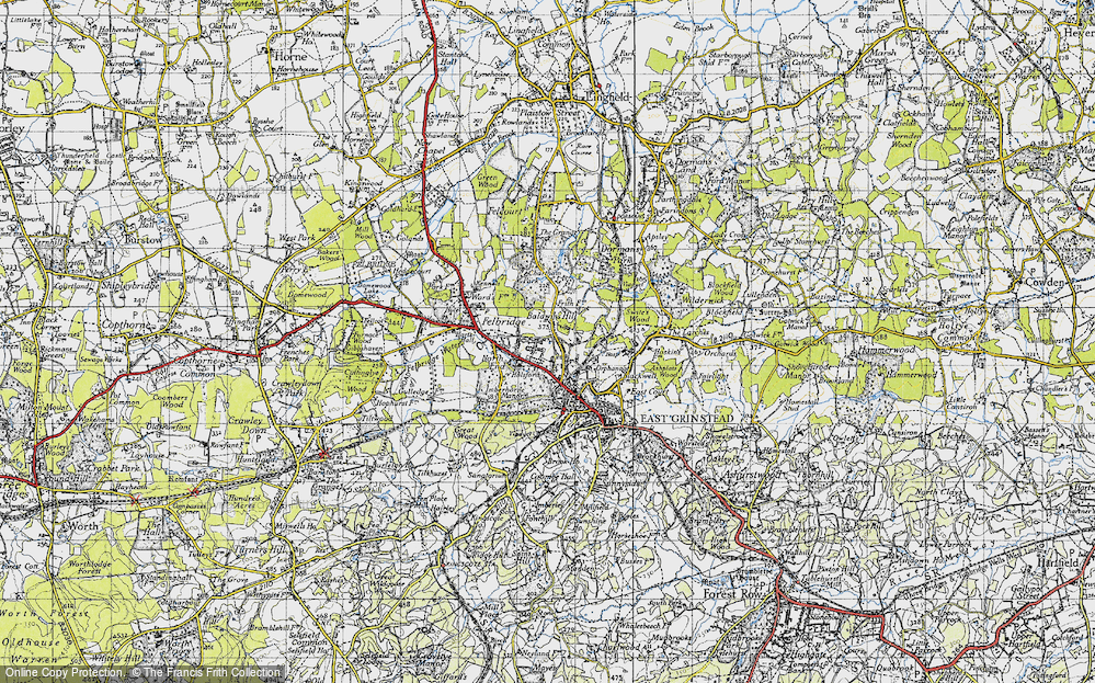Old Map of Baldwins Hill, 1946 in 1946