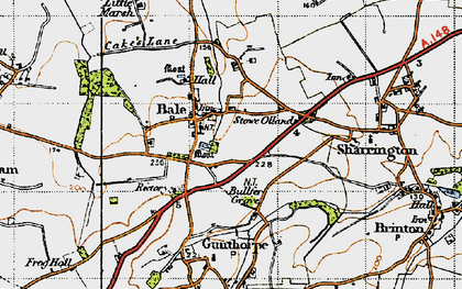 Old map of Bale in 1946
