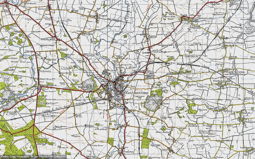 Old Map of Balk Field, 1947 in 1947