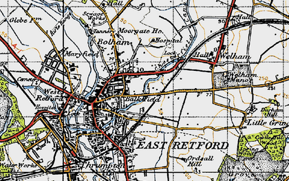 Old map of Balk Field in 1947