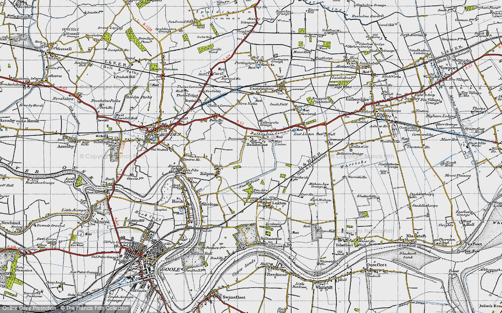 Old Map of Balkholme, 1947 in 1947