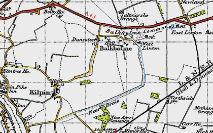 Old map of Balkholme in 1947