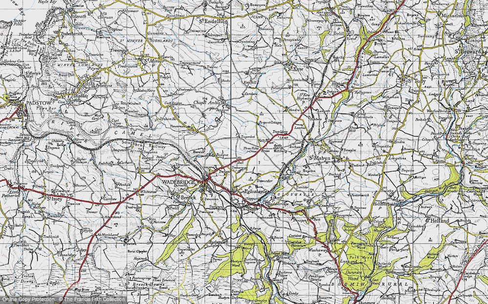 Old Map of Ball, 1946 in 1946