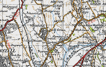 Old map of Ball Green in 1946