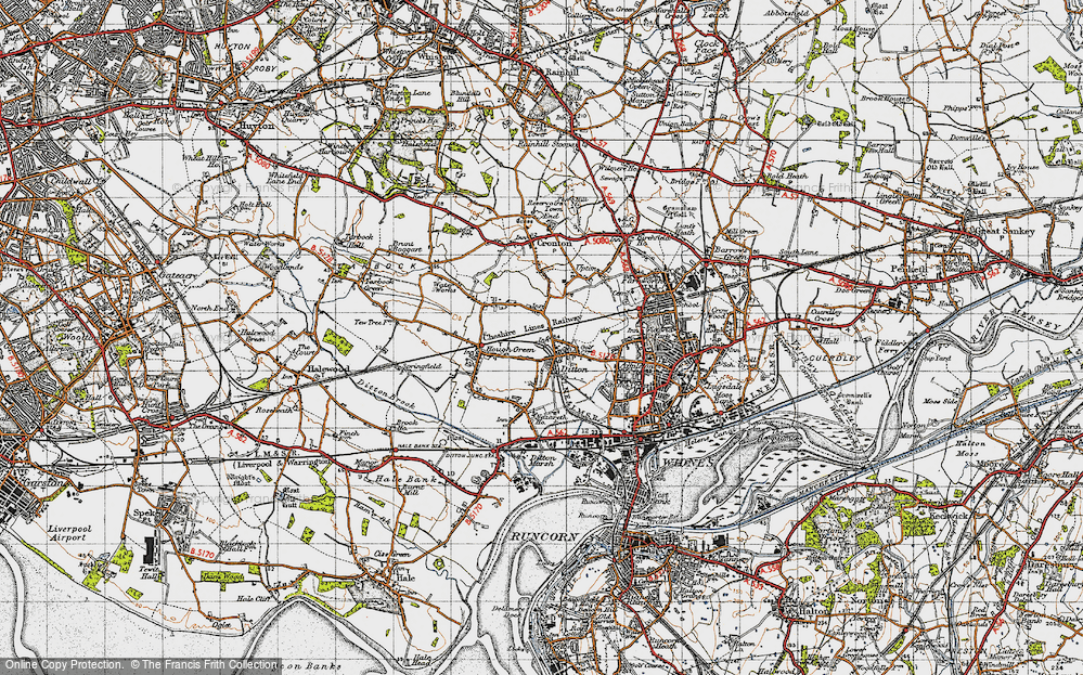 Old Map of Ball o' Ditton, 1947 in 1947