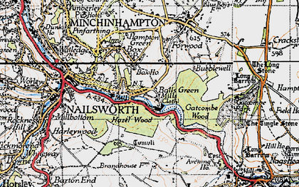 Old map of Ball's Green in 1946