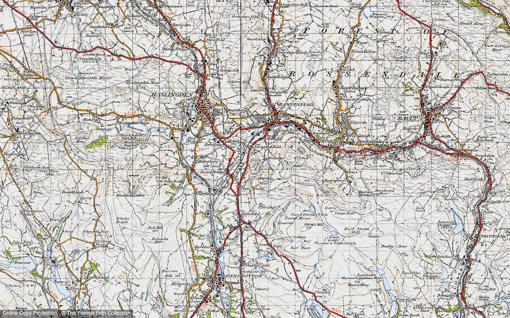 Old Map of Balladen, 1947 in 1947