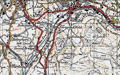 Old map of Balladen in 1947