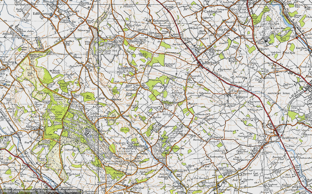 Old Map of Ballingdon Bottom, 1946 in 1946