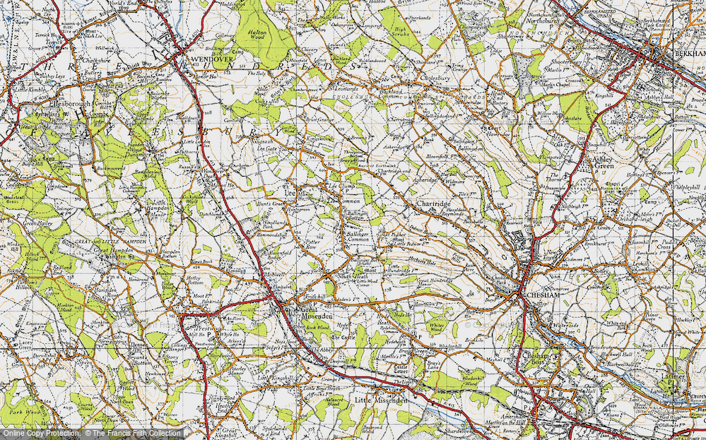 Old Map of Ballinger Bottom, 1946 in 1946
