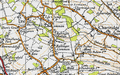 Old map of Ballinger Common in 1946