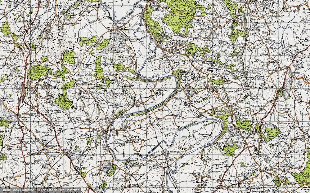 Old Map of Ballingham, 1947 in 1947