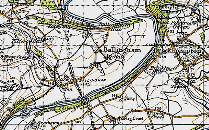 Old map of Ballingham in 1947