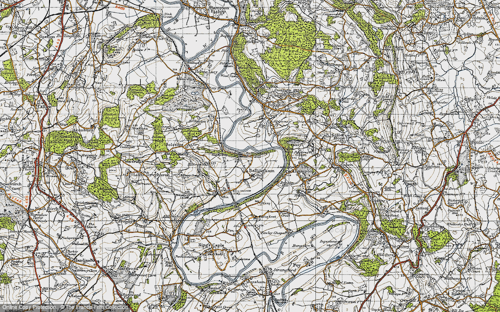 Old Map of Ballingham Hill, 1947 in 1947