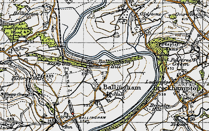 Old map of Ballingham Hill in 1947