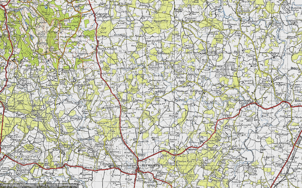 Old Map of Balls Cross, 1940 in 1940