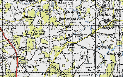 Old map of Balls Cross in 1940