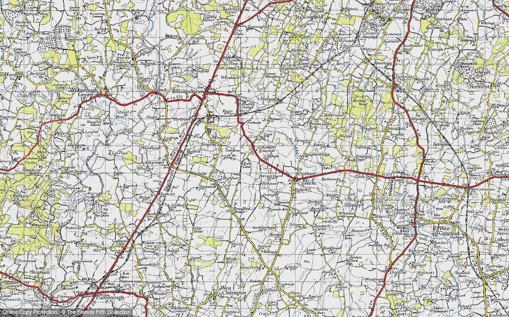 Old Map of Balls Green, 1940 in 1940