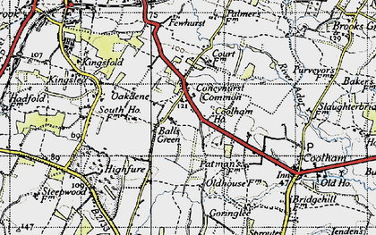 Old map of Balls Green in 1940