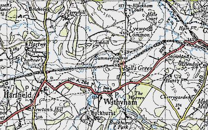 Old map of Balls Green in 1946
