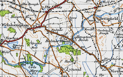 Old map of Balmer Heath in 1947