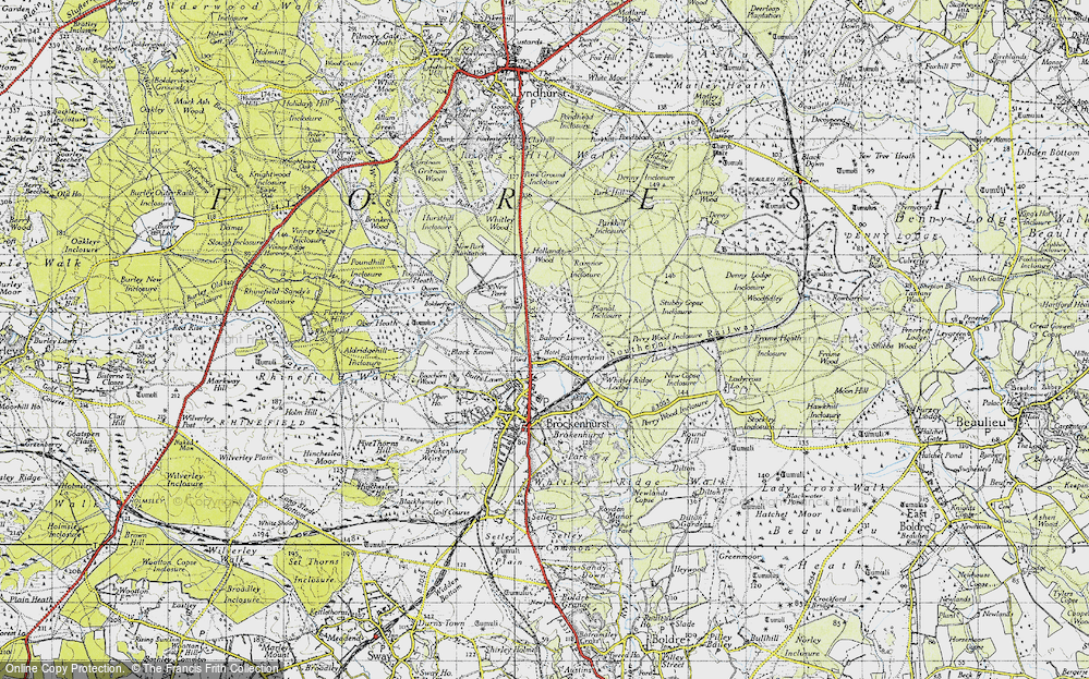 Old Map of Balmerlawn, 1940 in 1940