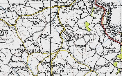 Old map of Balnoon in 1946
