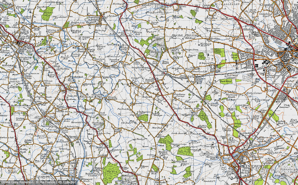 Old Map of Balsall, 1947 in 1947