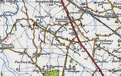 Old map of Balsall in 1947