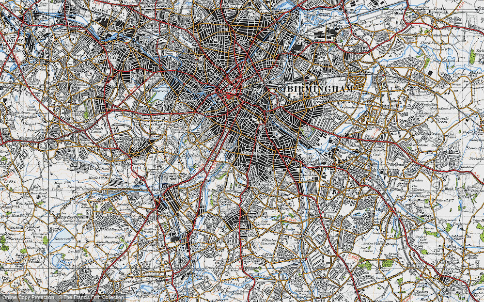 Old Map of Balsall Heath, 1947 in 1947