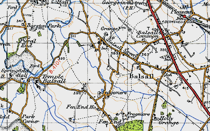 Old map of Balsall Street in 1947