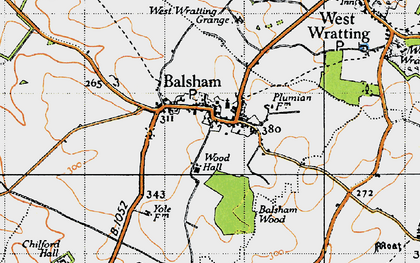 Old map of Balsham in 1946