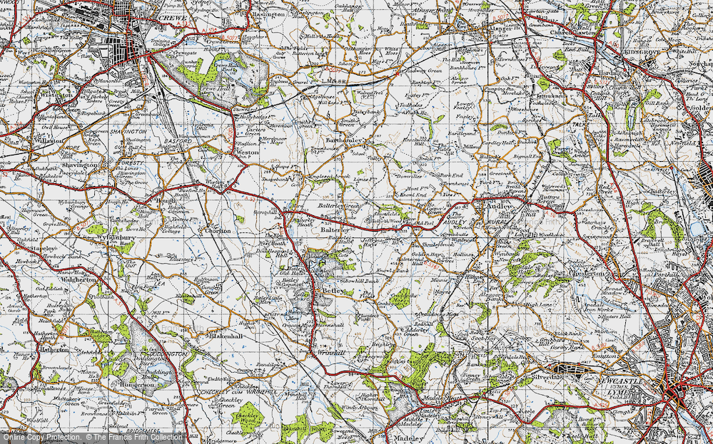 Old Map of Balterley Green, 1946 in 1946