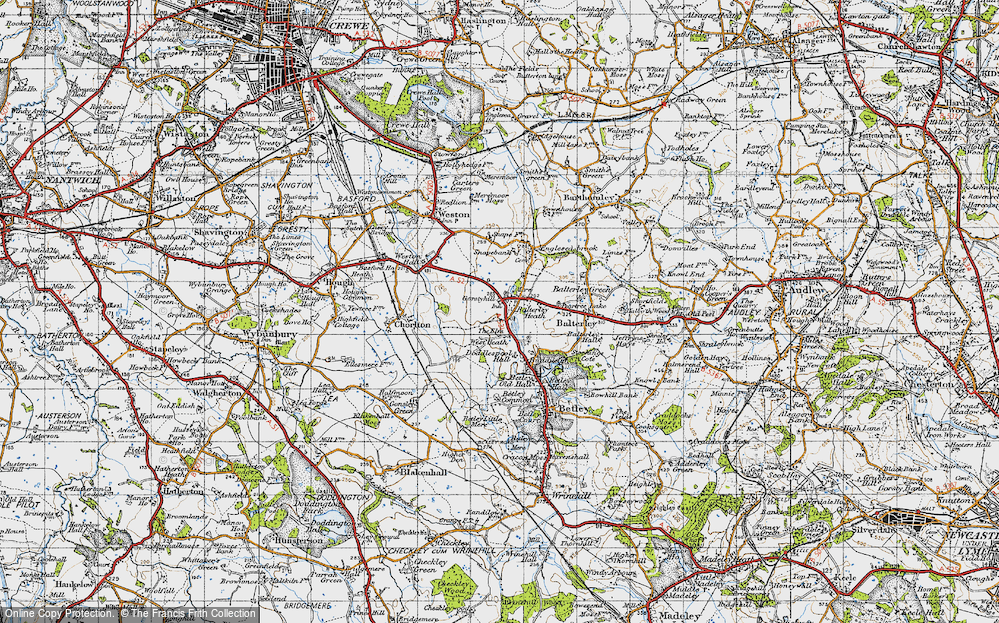 Old Map of Balterley Heath, 1946 in 1946