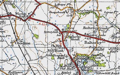 Old map of Balterley Heath in 1946