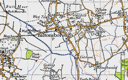 Old map of Baltonsborough in 1946