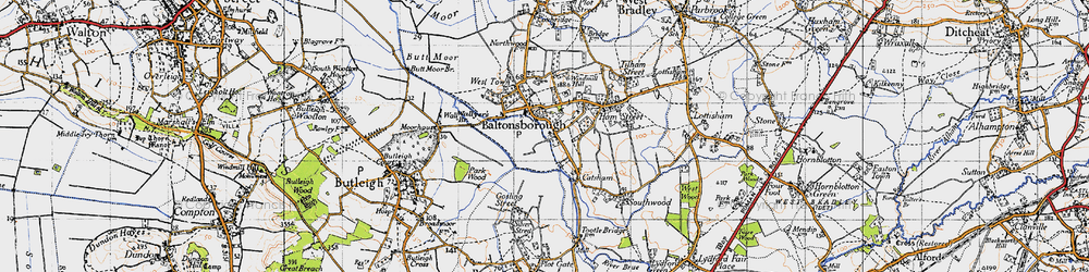 Old map of Baltonsborough in 1946