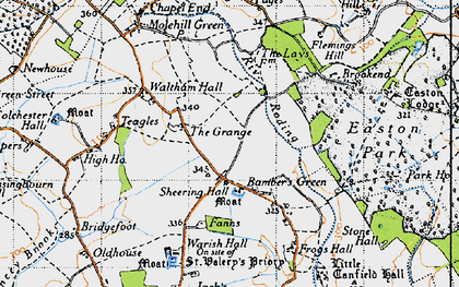 Old map of Bamber's Green in 1946