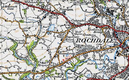 Old map of Bamford in 1947