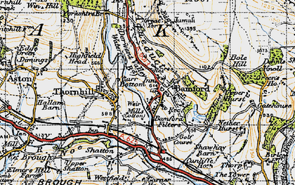 Old map of Bamford in 1947
