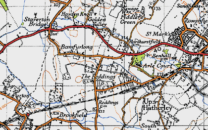 Old map of Bamfurlong in 1946