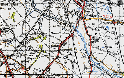 Old map of Bamfurlong in 1947