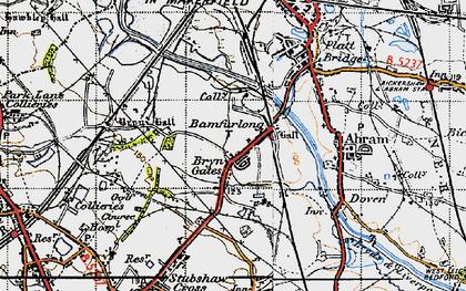 Old map of Bamfurlong in 1947