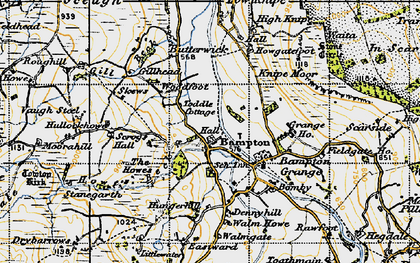 Old map of Bampton in 1947