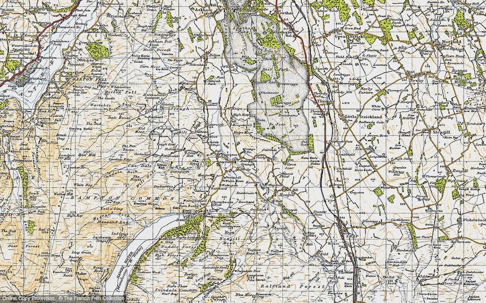 Old Map of Bampton Grange, 1947 in 1947