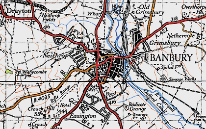 Old map of Banbury in 1946