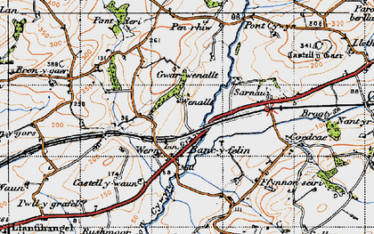 Old map of Bancyfelin in 1946