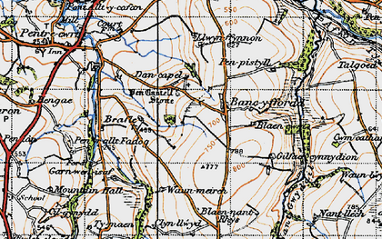 Old map of Bancyfford in 1947