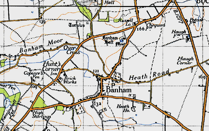 Old map of Banham in 1946
