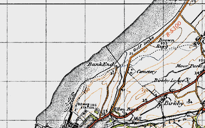 Old map of Bank End in 1947